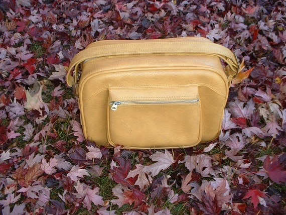 Vintage American Tourister Yellow Airline Bag circa 1970's