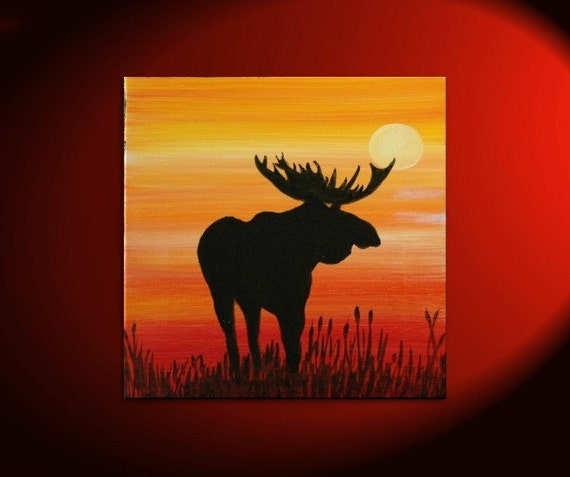 Moose Paintings On Canvas
