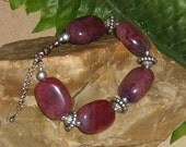 Chunky Purple Bracelet, Pendant and Earring  Set