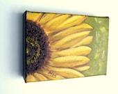 Yellow Sunflower Block Original Oil Painting