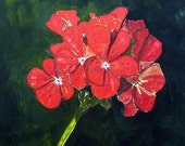 Geranium Bloom 2 Original Oil painting FREE SHIPPING