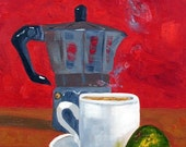 Cuban Coffee and Lime Oil Painting Free Shipping Now