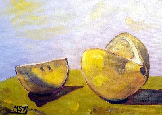 Lemon Original Oil Painting