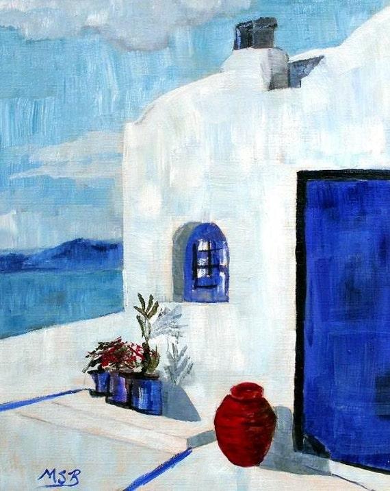 White House in Santorini Greece