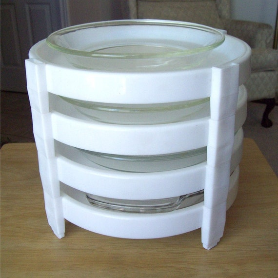 Vintage Tupperware Pie Stackers Divide A Rack Store