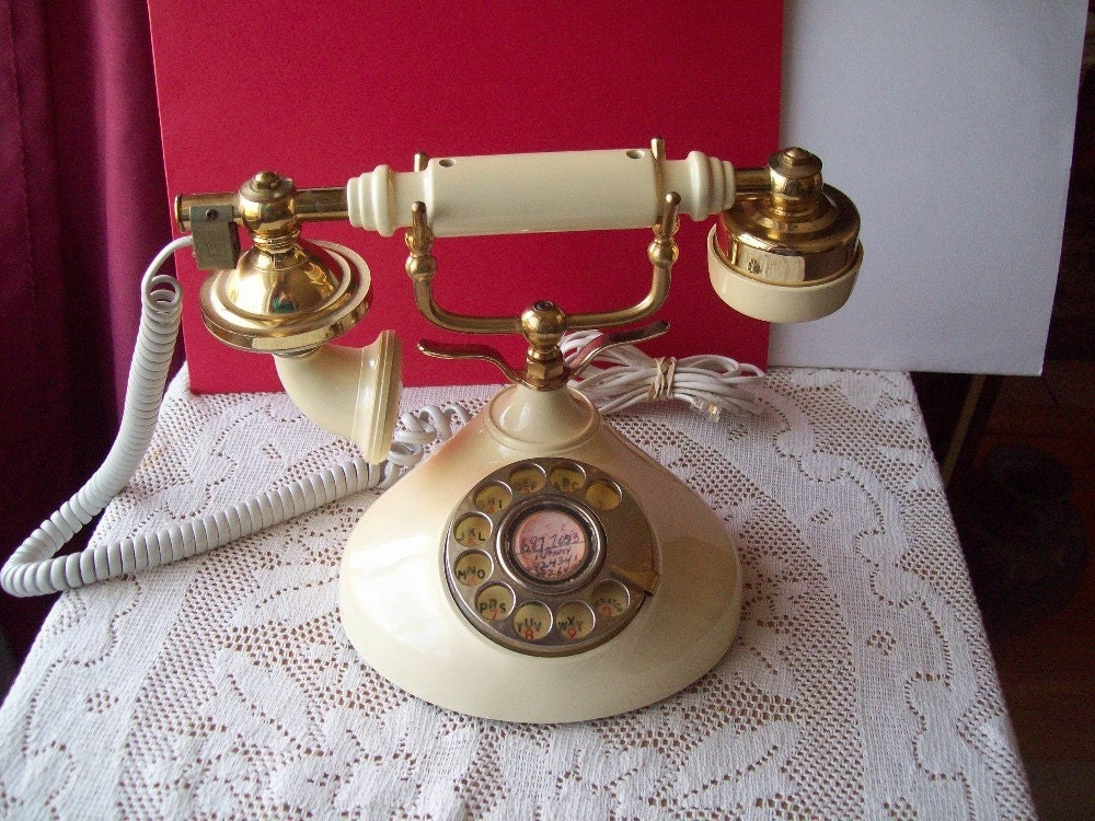 SALE Telephone French Style Rotary Dial Victorian by