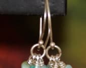 Sprouted Cluster earring in Antique Silver