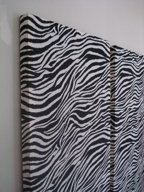 Zebra Print Fabric Wall Hangings Wall Decor By Madmosaics