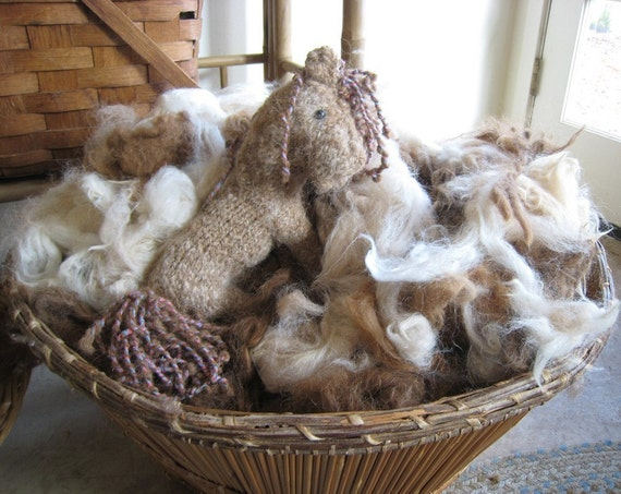 BARGAIN ALPACA, Blond Mix, 5oz washed, stuffing material
