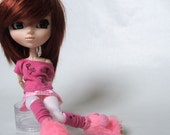 Pink circus doll outfit for Pullip, momoko, blythe, azone, obitsu, barbie ...