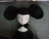 Maggie - Cloth and Clay Art Doll Mouse by Evelyn's Wonderland