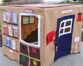 Our Local Library, Card Table Playhouse, Personalized, Custom Order