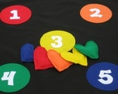 Hide N Seek Hearts Game, Toss Game, Matching Game, Learn Your Colors, Learn Your Numbers Game