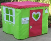 Playhouse for Card Table, Lime Basic Bungalow, Custom Order