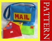 Sewing Pattern, Mail Bag with Working Envelopes, Valentine Mail Set, Includes Alphabet Set for Personalization