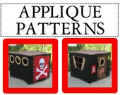 Applique Patterns for Pirate's Hideout Card Table Playhouse, Applique Designs Only, Instant Download Print it Yourself