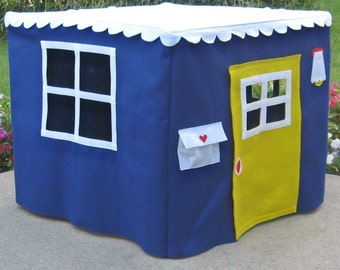 Card Table Playhouse, Royal Blue Basic Bungalow, Custom Order