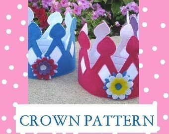 Felt Crown Pattern for your Prettiest Princess and Most Handsome Prince, ebook, lots of pictures