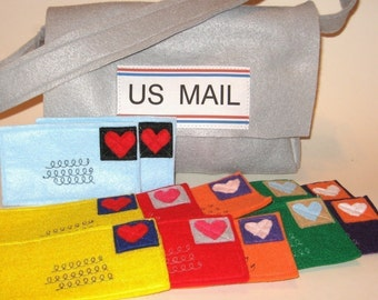 Mail and Mail Bag for your favorite little mailman or to use with Playhouses, Custom Order
