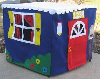 Card Table Playhouse, Indoor Playhouse, Kids Gift, Felt Playhouse, Tablecloth Playhouse, Indoor Play Tent, Kids Teepee, Custom Order