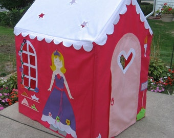 Fabric Playhouse, Indoor Playhouse, Large Kids Playhouse Teepee, Princess, Fits PVC Frame You Easily Build, Custom Order