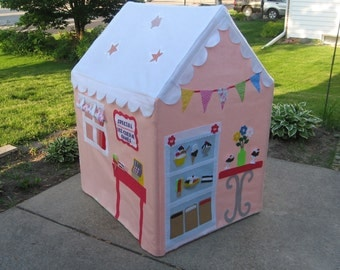 Kids Large  Playhouse, Petite Palatial Playhouse, Ice Cream Parlor, Indoor Playhouse, Kids Tent, Fits over PVC Frame You Build, Custom Order