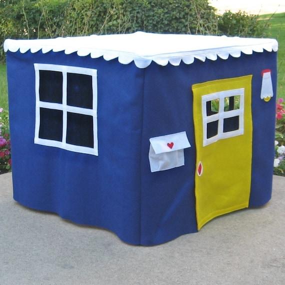 Card Table Playhouse, Royal Blue Basic Bungalow, Custom Order