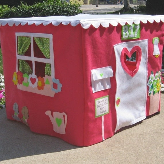 """Immediate Shipping Double Delight  Card Table Playhouse, Fits 34"""" Card Table"""