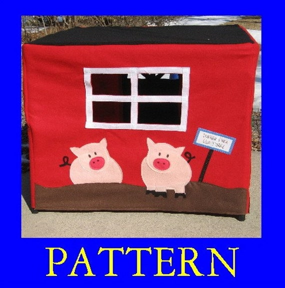 Our Family Farm, Card Table Playhouse Pattern, Add On Pattern, Instant Download eBook