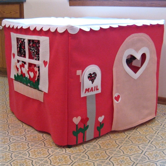 Card Table Playhouse Happy Heart House, Custom Order