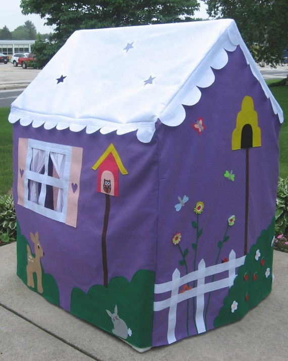 "Large Kids Playhouse, Play Tent, Custom Order, Personalized, 43""w x 53""l x 63""h"