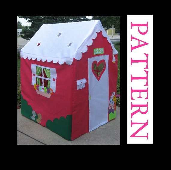 Playhouse Pattern, Sew a Large Playhouse to Fit a PVC Frame, ebook only, INSTANT download after purchase