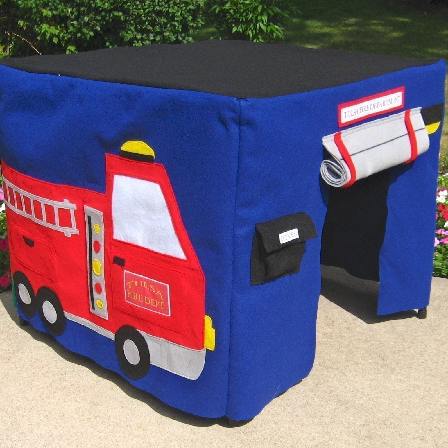 Fire Engine Card Table Cover