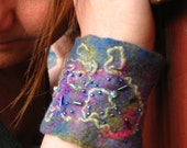 Felted Hand Cuff - Pixie Spring Lake