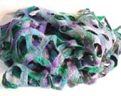 SALE Felted Scarf Shawl or Stole - Lake side
