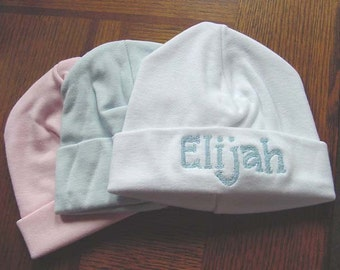 Personalized Baby Boy Girl Infant Newborn Hospital Hat many colors