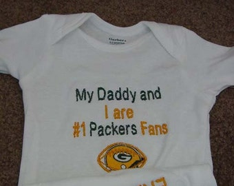 Green Bay Packers Football Baby Infant Newborn creeper Personalized