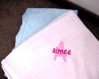 Personalized Tahoe Mirco Fleece Super Soft  Baby Toddler Blanket Security Blankie Large 30 x 40 Gift Blanket Personalized