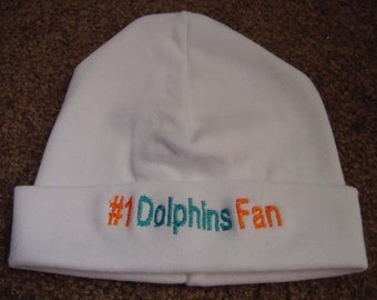 Miami Dolphins Football Baby Newborn Hat