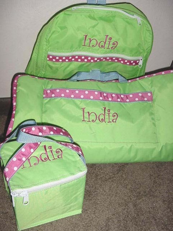 Personalized Boys Girls Nap Mat Backpack Lunch Box Set Of 3