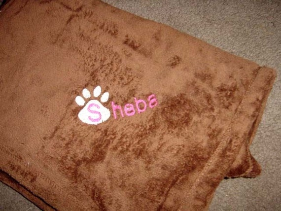 Cat Kitten Blanket Super Soft Tahoe Microfleece Pet Fleece  Blanket Cuddle - 30x40 Personalized