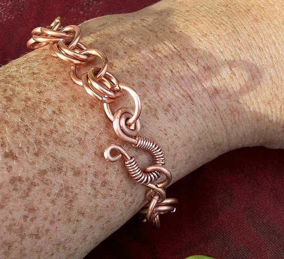 "Copper Link Bracelet for Men And Women/ ""Essence""/ Made to Order"