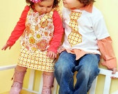 Matching Brother Sister Set - Tie Shirt - Pillowcase Dress - Malibu Meadow