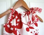 Girl Clothing - Pillowcase Dress - Girl Dress - Kumari Red