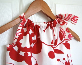 Girl Clothing - Pillowcase Dress - Girl Dress - Kumari Red
