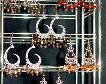 Copper Crystal Dangles