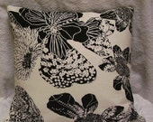 Toss Pillow, Butterflies on Oyster White background, 18x18, LAST one..