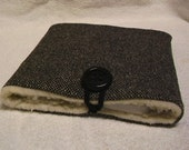 Kindle, electronic devices, wool tweed or plaid fabric