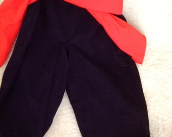Pirate toddler, SZ 6 - 10, Black pants, vest, sash, tee, 4 ITEMS.