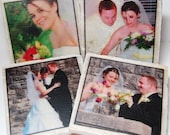 Tumbled Marble Tile PHOTO COASTERS (Color)